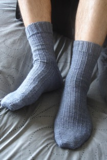 Wearing_his_socks